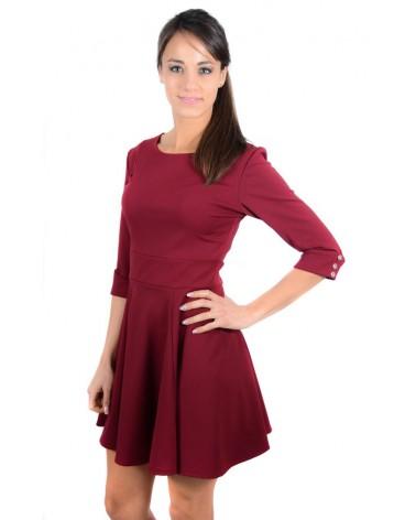 Petite robe évasée bordeaux Ritari