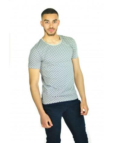 T-shirt simple gris à diamants Telhas
