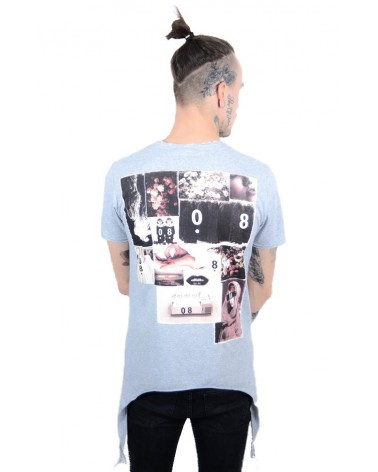 T-shirt gris urban streetwear & côtés longs Penjat