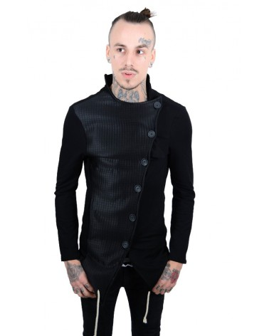 Veste urban streetwear bi-matière effet cuir Kyrads