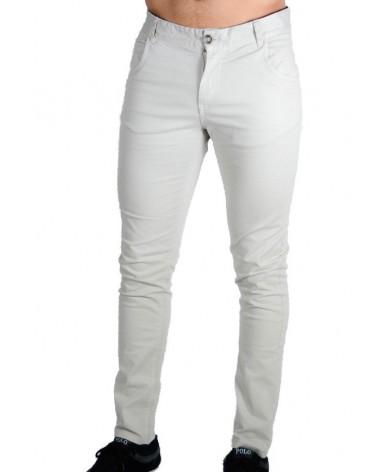 Pantalon coupe ajustée beige Miran