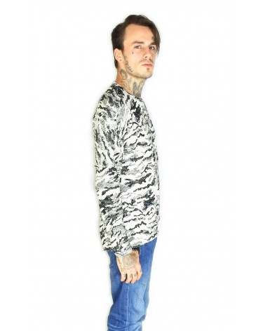 Pull aahron doux motif camouflage militaire urbain