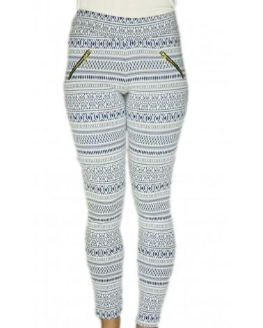 Pantalon caleçon motifs indiens bleu