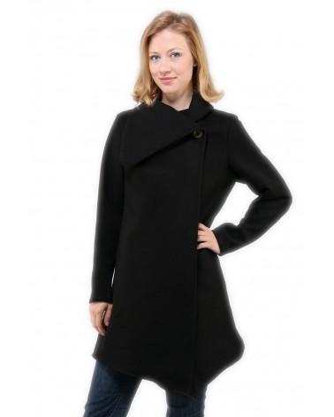 Manteau long Pigou noir en laine & cachemire