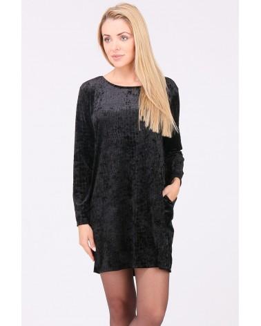 Vêtement italien noire imitation daim et croco