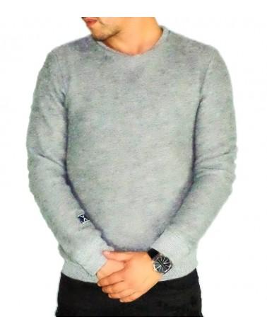 Pull en laine gris