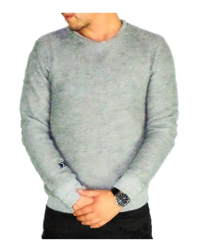 Pull en laine gris fashion