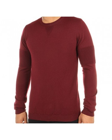 Pull en maille simple bordeaux