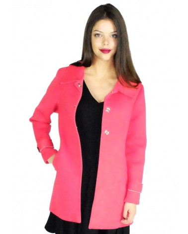 Manteau rose chic en mousse