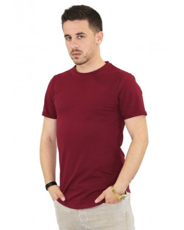 T-shirt oversize bordeaux et basique made in Italy
