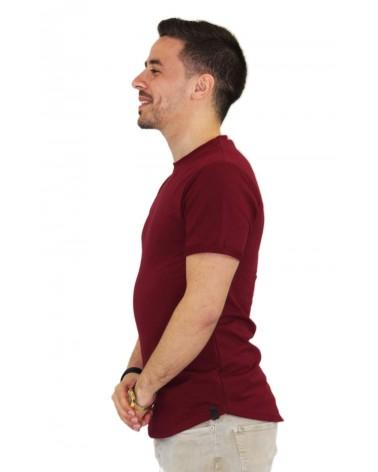 T-shirt fashion oversize bordeaux et basique made in Italy