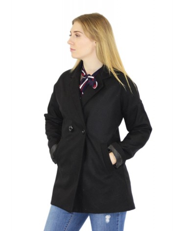 Manteau noir made in Italy