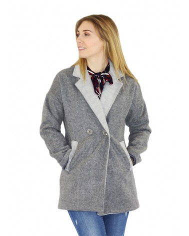 Manteau gris made in Italy