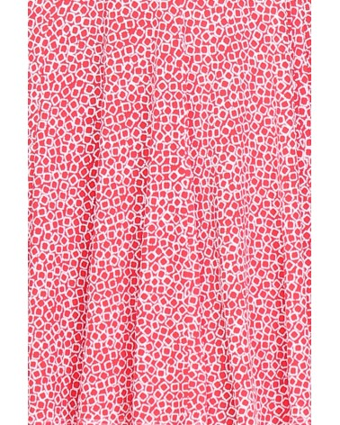 Robe made in France rouge à motif minis carreaux