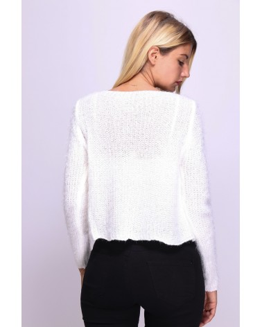 Gilet blanc et court made in Italy