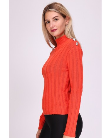 Pull orange made in Italy