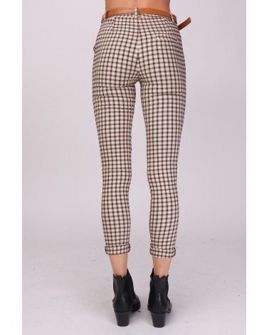 Pantalon à  carreaux made in Italy