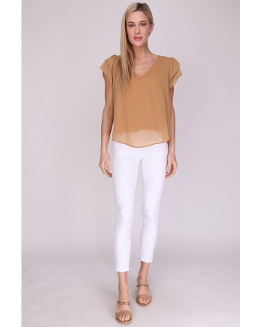Blouse made in France camel