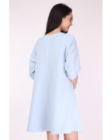 Robe courte made in france bleu ciel