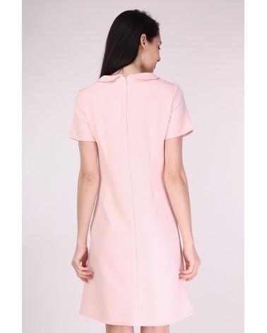 Robe col Claudine fabriquée en France rose