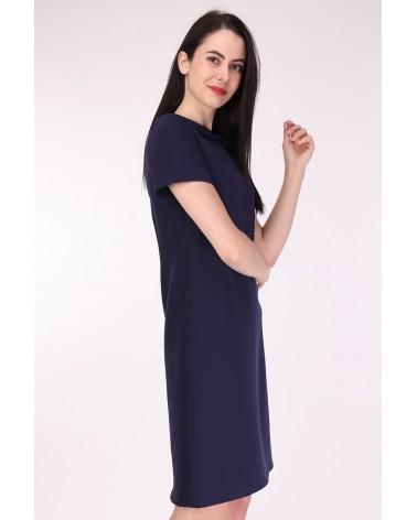 Robe col Claudine fabriquée en France bleu marine