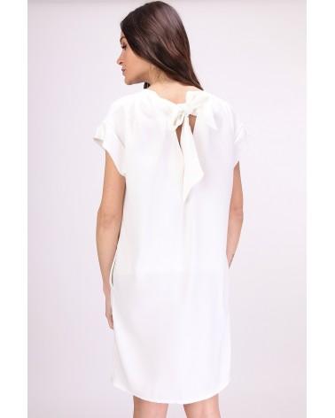 Robe fabriquée en France à poches écrue