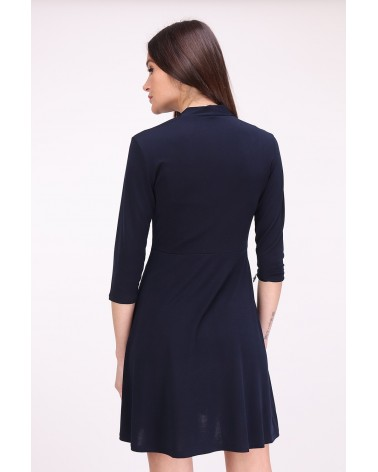 Robe made in France cache-coeur bleu marine
