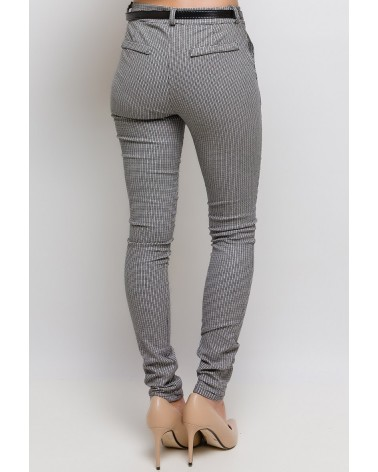 Pantalon made in Italy élastiques à petits losanges (ceinture incluse)