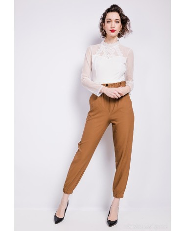 Pantalon made in Italy camel
