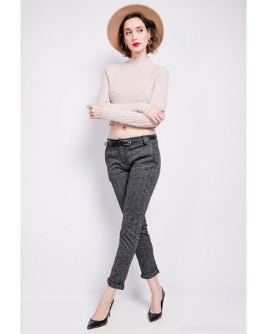 Pantalon gris chiné fashion fabriqué en Italie