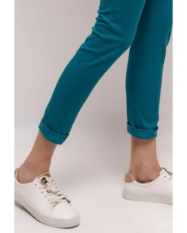 Chino bleu canard made in italy (ceinture incluse)