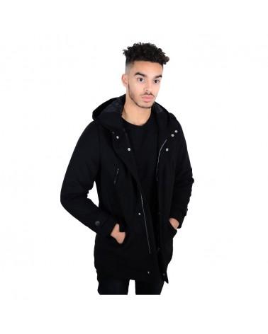 Tyk noir manteau doudoune made in italy
