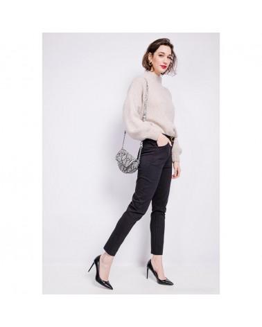 Pantalon made in italy noir basique & élastique (petite ceinture incluse)