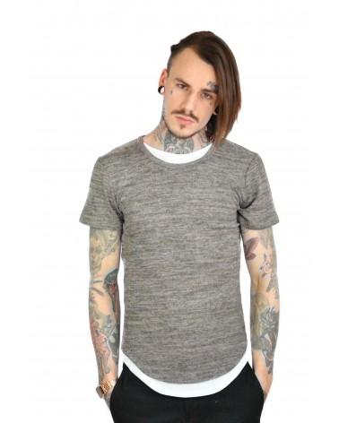 T-shirt taupe cintré et doublé Chicko