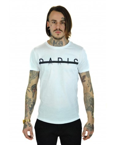 T-shirt blanc PARIS streetwear
