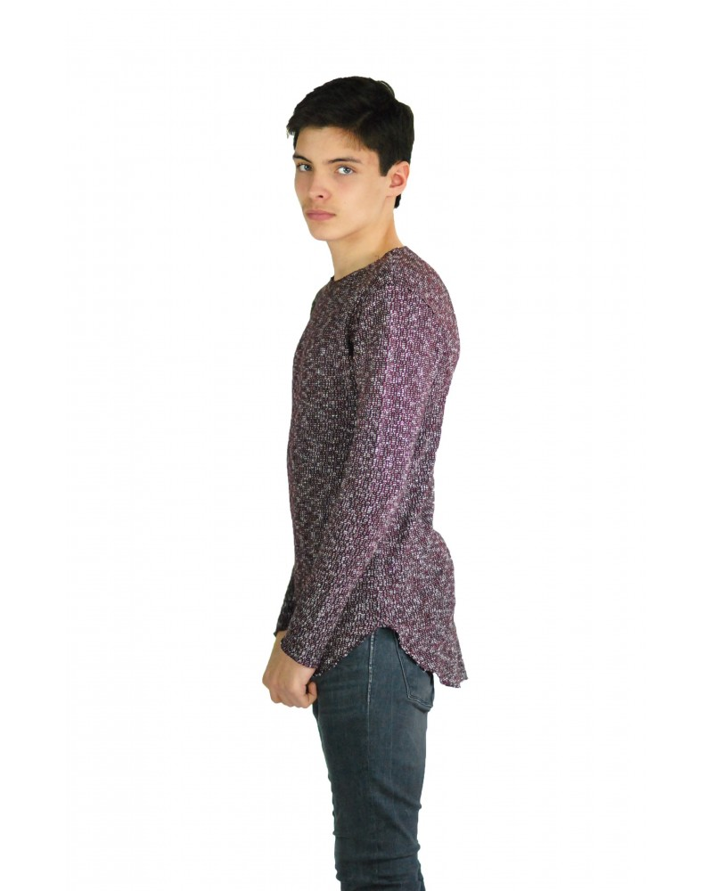 Pull bordeaux made in italy