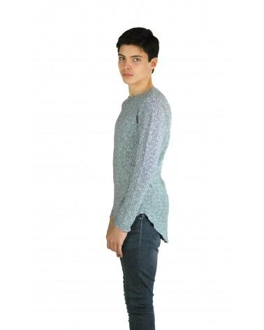 Pull long gris urban streetwear élastique Jovem